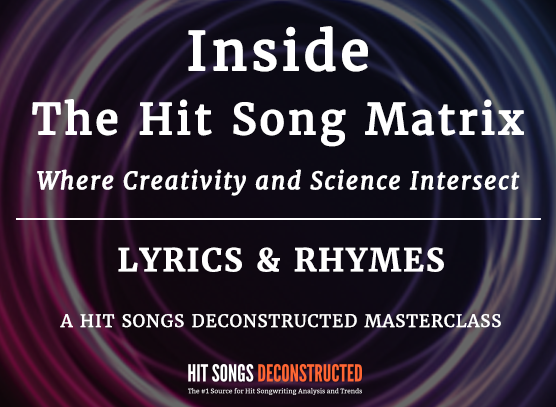 Inside the Hit Song Matrix:  Lyrics & Rhymes