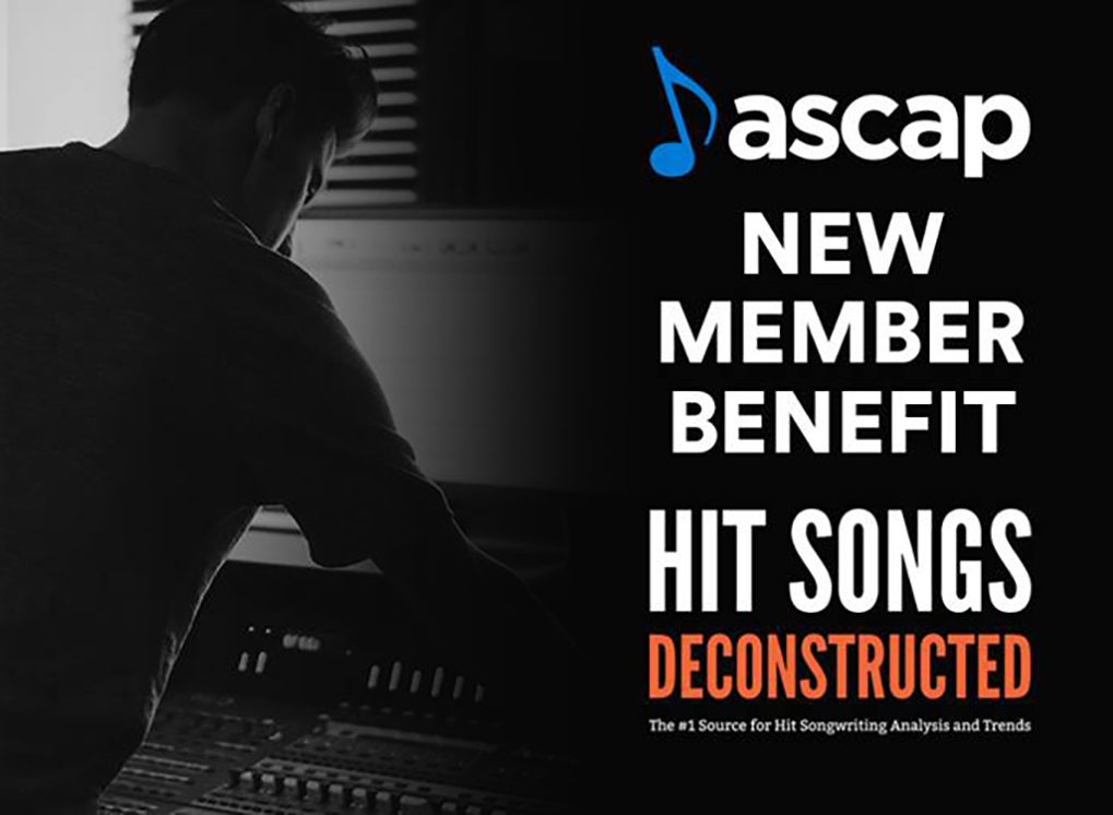 Hit Songs Deconstructed and ASCAP Team Up to Provide Hit Songs Deconstructed as a new ASCAP Member Benefit